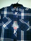 Boys Southpole Brand Navy Blue or Red Plaid Flannel Shirt Size 10/12 14/16 18/20