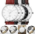 Fashion Dalas Men Women Simple Stlye Big 3 Hand PU Leather Quartz Wrist Watch
