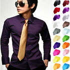 Hot Handmade Classic Men's Necktie Wedding Party 100% Silk Tie Plain Color Solid