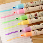 Double Head Highlighter Pen Marker Paint Liner Pastel Colors Deco Label Tag