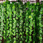 12Pcs 2.4m Artificial Ivy Vine Decoration Fake Foliage Flower Leaf Garland Plant