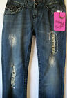 Rock &Roll Cowgirl Juniors Low Rise Boot Cut Studded Pocket Jeans WO-3531