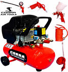 COBRA AIR TOOLS 25L LITRE AIR COMPRESSOR  2.5HP &amp; 5 PCS KIT 8 BAR POWERFUL <br/> 12 MONTHS WARRANTY FULL SPARES &amp; SERVICE BACKUP