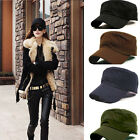 Hot Fashion Adjustable Classic Army Plain Vintage Hat Cadet Military Patrol Cap