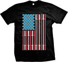 Cross Fit USA American Flag Kettlebell Fitness Gym Workout Exercise Mens T-Shirt