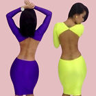 HOT Sexy Backless Bodycon Slim Cocktail Evening Clubwear Bandage Dress 2 Color