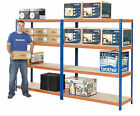 Steel Warehouse Shelving Heavy Duty Industrial Racking 1780H 600D 4 Sizes 300kg