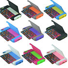 Heavy Duty Hybrid Credit Card Hard Shell Combo Case Cover w Stand For Cellphone