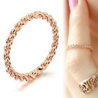 18k Rose Gold Gf R152 Plain Knot Twist Swirl Solid Girl Toe Tail Dress Band Ring