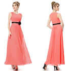 Ever Pretty Free Shipping Coral Ladies Long Bridesmaid Evening Party Dress 08053