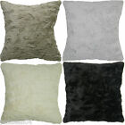 "2 X SUPERB FAUX FUR EXTRA SUPERSOFT FLUFFY 18"" CUSHION COVERS 4 COLOURS #NIHC"