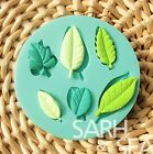 New Leaves silicone mold for fimo resin polymer clay fondant cake chocolate 011