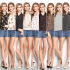 2015 New Fashion Women Ladies Chiffon Long Sleeve Shirt Tops Blouse T-shirt