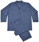 RAEL BROOK PURE COTTON PYJAMAS (251) M TO 4XL, NAVY CHECKED