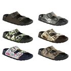 Birki by Birkenstock Haiti sandals - green brown grey pink - Birko-Flor