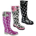 Cotswold DOG PAW MOO WELLY Womens Ladies Waterproof Wellies Wellington Boots New