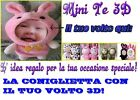 OGGETTO PERSONALIZZABILE/PERSONALIZED GADGET BAMBOLA 3D PELUCHES REGALO FACEDOLL