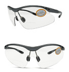 BIFOCAL CYCLING SPORTS  WRAP CLEAR GLASSES HIGH IMPACT INTEGRAL BIFOCAL LENS