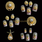 10x 3D Gold Hat Bow Starfish DIY Nail Art Alloy Decors Phone Craft Jewelry Gift