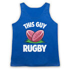 THIS GUY LOVES RUGBY UNION LEAGUE FUNNY HUMOROUS COOL RETRO MENS TANK TOP VEST