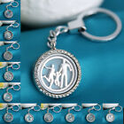 Hot Stainles Steel iron Living Floating Charm Memory Locket Keychain buckle Gift