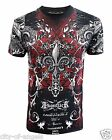 Konflic Rock Star MMA Muscle Graphic Designer Wing Back Men's T Shirt S-2XL