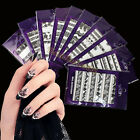 5/10 Water Transfer Black White Lace Decal Wrap Nail Art Decoration Sticker Tips