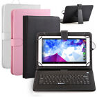 "iRulu Multi-Color 10"" PU Leather Stand Case Cover Micro USB Keyboard for Tablet"