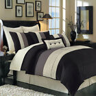 Hudson Luxury Black, Brown and Ivory 12-Piece Bedding Set