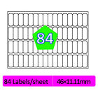 84 Labels Per A4 Sheet Address Labels Self Adhesive Sticky Peel Copier Copier
