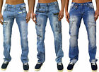 Herren Designer Jeans Kosmo Lupo Tapered Fit Stylische Hose Funky Party Club