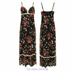 WOMENS LADIES STRAPPY FLORAL LACE MAXI SKIRT BOHO HIPPIE SUMMER DRESS SUNDRESS