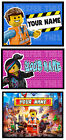 PERSONALISED LEGO MOVIE IRON ON TSHIRT TRANSFER OR STICKER WALL DECO EMMET LUCY