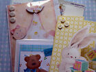 New Baby Boy Girl Congratulations Christening Handmade Card Bunny Teddy Bundle