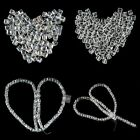 100pcs White 4/6mm Glass Crystal Jewelry Bracelet Making DIY Cubes Loose Beads