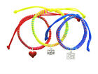 **CAT FACE 2 ** Primary/Neon Set Macrame Friendship Bracelets (Set of 3) ~~USA