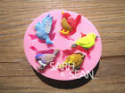 Bird silicone mold for fimo resin polymer clay fondant cake chocolate 065