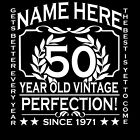 50th Birthday T-Shirt Ladies Cut Add Name Personalise Change Year Gift Idea Girl