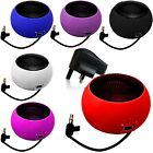 3.5mm PORTABLE MINI CAPSULE SPEAKER+BLACK PLUG FOR FITS HTC DESIRE 300 (XL)