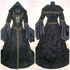 MEDIEVAL DRESS S-M-L-XL-2XL GOTHIC VAMPIRE COSTUME VICTORIAN HALLOWEEN LOTR ROBE