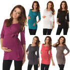 2in1 Maternity & Nursing 3/4 Sleeved Wrap Bow Top Size 8 10 12 14 16 18 7035