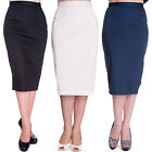 Hell Bunny Frankie Vintage 50S Pinup Fitted Wiggle Pencil Work Career Skirt