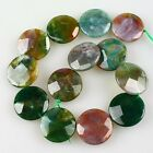 K59501 30x8mm Faceted Indian agate traffic circle loose beads 13pcs
