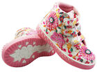 GIRLS ANKLE BASEBALL VELCRO MULTI GLITTER PINK HI TOP CANVAS BOOTS SHOE SIZE 7-1