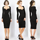 Autumn Winter Women Sweatheart Neck Bodycon Evening Party Prom Formal Dress Y687