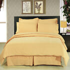 Solid Gold 8-Piece Bedding Set Super Soft Microfiber Sheets+Duvet+Alternative