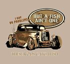 Hot Rod Rat Rod Fishing Shirt Tshirt T Shirt Mens Guys XL Car Reel Love to Fish