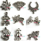 Wholesale 20x Mix Style Lover Animal Charms Silver Tone Alloy DIY Pendants Pick