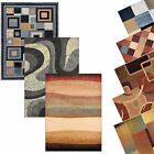 "Contemporary Geometric Area Rug Modern Stripe Squares Carpet -Actual 7'10""x10'5"""