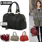 WOMEN'S FAUX LEATHER Boston Bowling Bowler Cross Body Sling handbag Shoulder Bag